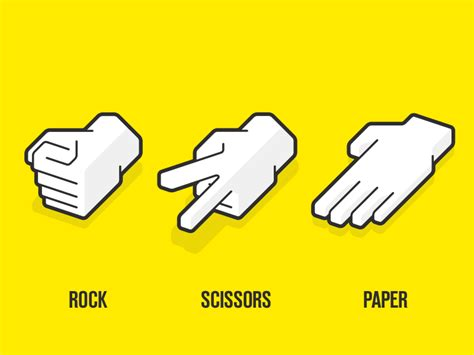 How To Make A Rock Paper Scissors In Scratch - rock paper scissors by sacha jerrems dribbble