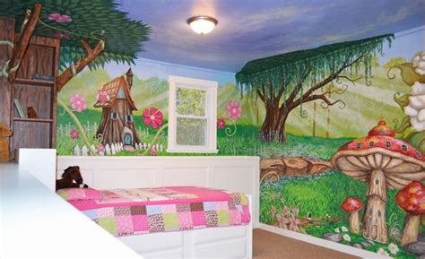 enchanted forest bedroom i painted this enchanted forest mural in my daughter s