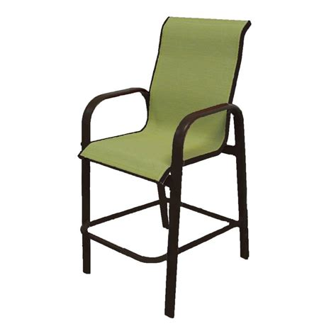 Bar Height Patio Chair Marco Island Cafe Brown Commercial Grade Aluminum Bar Height Patio Dining Chair With