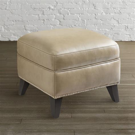 bassett leather ottoman bassett 3956 01t barrett ottoman discount furniture at