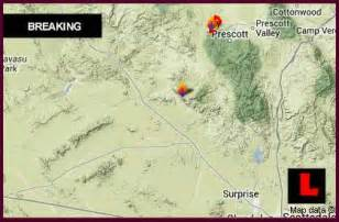 yarnell hill map 2013 arizona wildfire spreads south