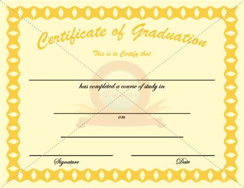 20 best images about graduation certificate templates on