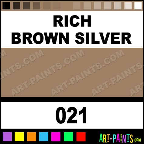 rich brown silver artists acrylics metal and metallic paints 021 rich brown silver paint