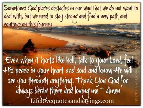 even so our journey through heartbreak and triumph books sometimes god places obstacles in our way