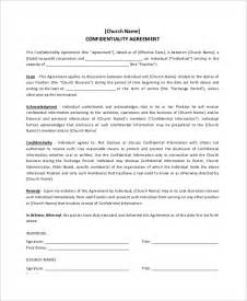 donation agreement template 11 church confidentiality agreement templates free