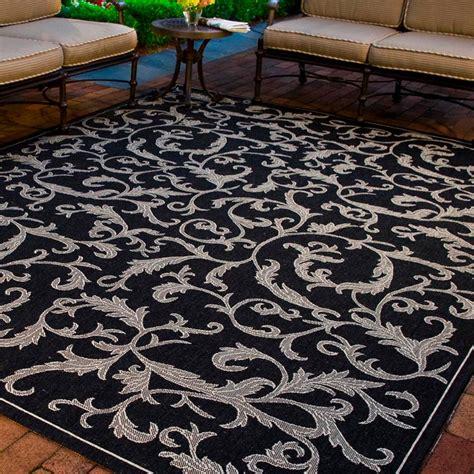 Safavieh Courtyard Black Sand 4 Ft X 5 Ft 7 In Indoor 4 X 5 Outdoor Rug