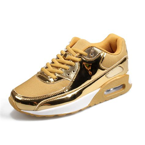 mens gold sneakers buy 2017 casual shoes breathable mesh