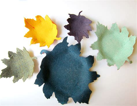 diy project fabric leaf bowls going home to roost