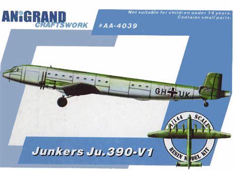 Home Kit by Junkers Ju 390 V 1 1 144 Model Kit By Anigrand Craftswork