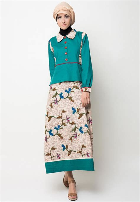 desain dress batik terbaru trend model baju gamis baju batik baju muslim 2015
