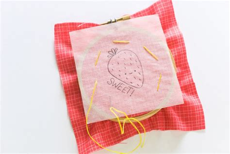 pattern transfer paper for fabric using the tracing paper embroidery transfer method