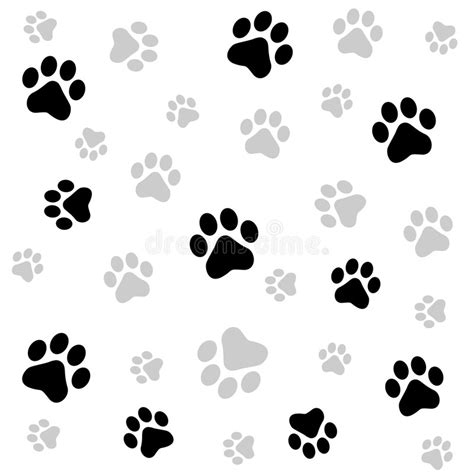 Paw Prints Background Stock Vector Illustration Of Artwork 6936093 Paw Print Powerpoint Template