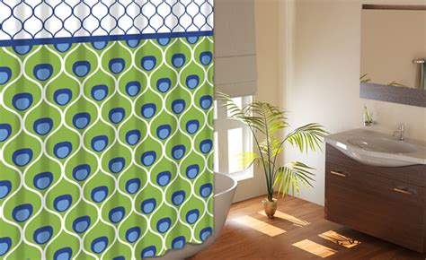 Green Fabric Shower Curtains by 72 Quot X72 Quot Printed Shower Curtains With Metal Roller Hooks