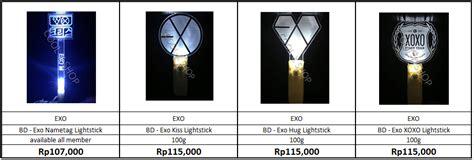 Exo Lightstick Version 2 Putih lightstick exo all type awkpopstore
