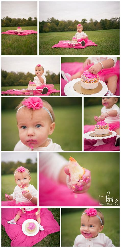 Outdoor Fall Cake Smash For Reeses  Ee  First Ee    Ee  Birthday Ee