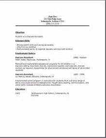 Daycare Assistant Cover Letter daycare assistant resume2 quotes