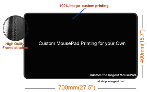 Custom Size Mouse Mat by Xl Mouse Pads Personalized With Custom Printing X Raypad