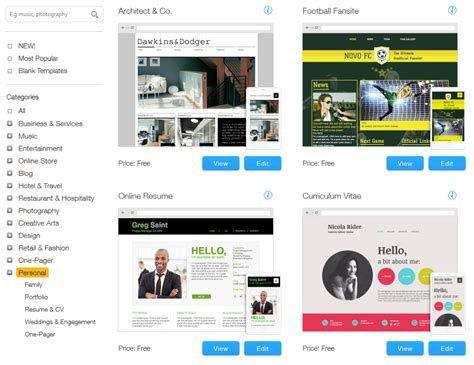 wix templates for best free and cheap website options for small businesses
