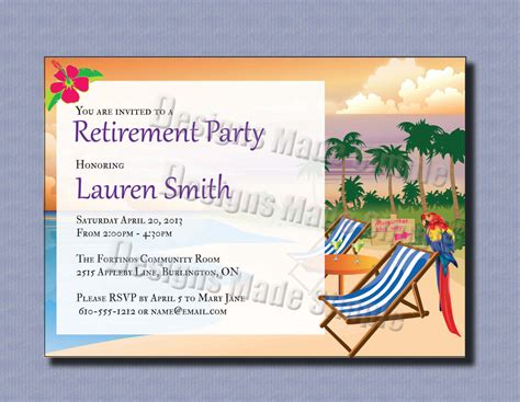 free retirement template retirement invitations template best template