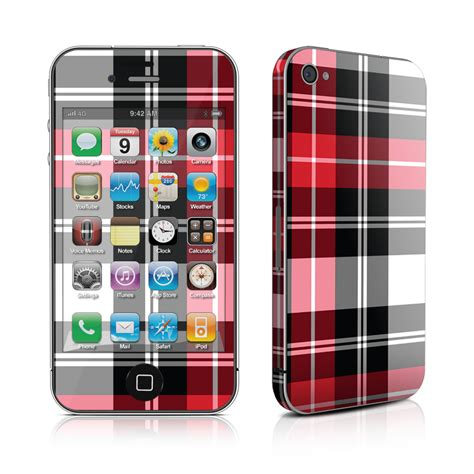 Skin Your Iphone With Decalgirl by Iphone 4 Skin Plaid Decalgirl