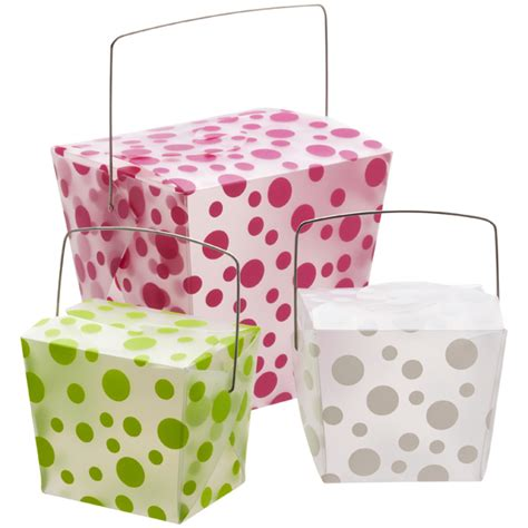 polka dot take out cartons the container store
