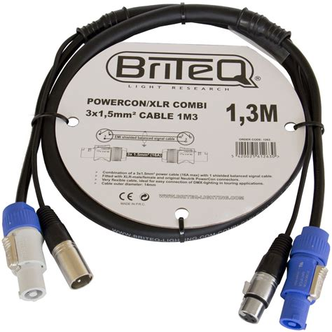 Kabel Printer 10m Grey briteq powercon xlr combi kabel powercon xlr multikabel
