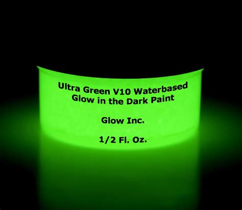 glow in the paint v10 ultra green v10 glow in the paint 1 2 fluid oz ounce