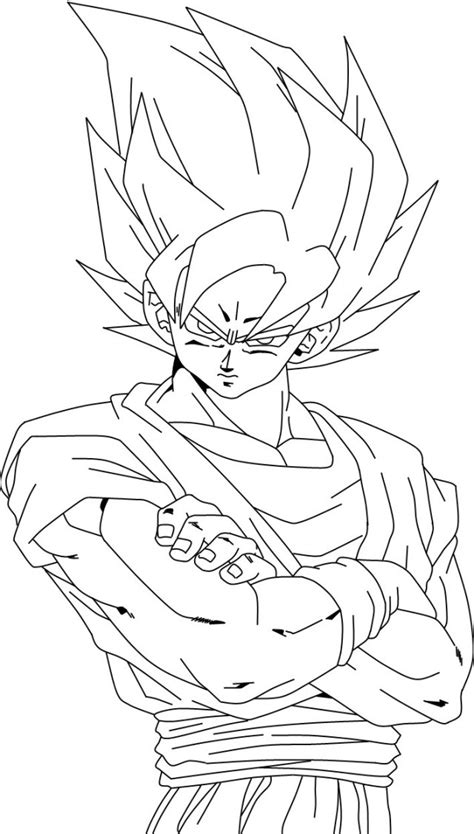 dragon ball z super saiyan 4 coloring pages az coloring