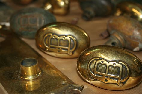 Door Knob Faceplate by Solid Brass Faceplate And Door Knob Set For Sale