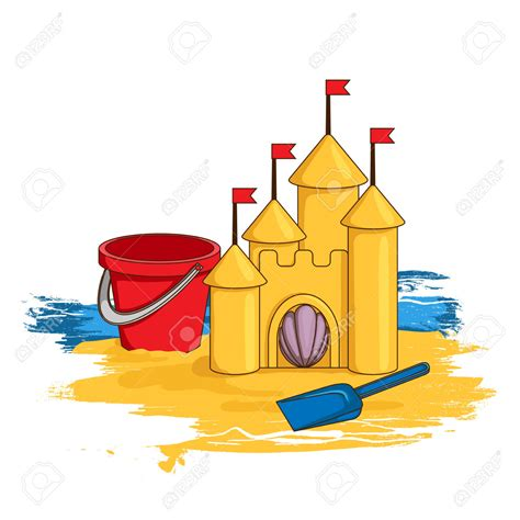 sand castle clipart seaside clipart sand castle pencil and in color seaside