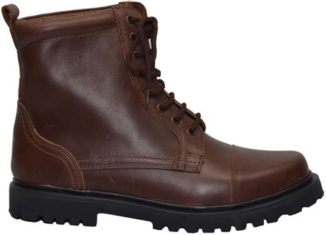 Cowhide Leather Shoes - boots lace up genuine cowhide leather shoes brown