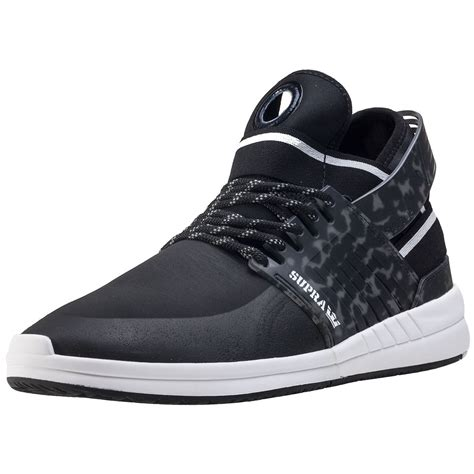 supra skytop v mens trainers in black camouflage