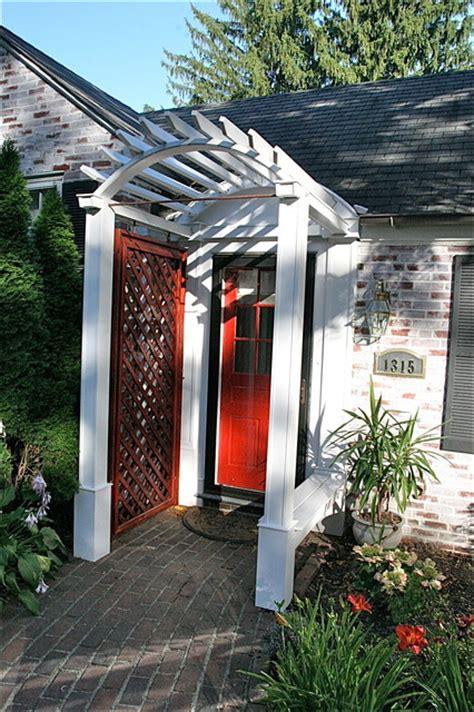 Front Door Trellis Exterior Door Portal Trellis Traditional Porch Baltimore By Spacecraft