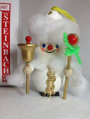 Handmade German Ornaments - steinbach made german wooden ornament white