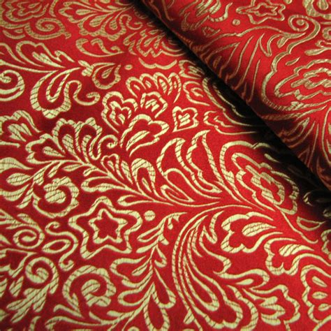 pattern silk fabric montreal classical pattern red brocade fabric silk fabrics