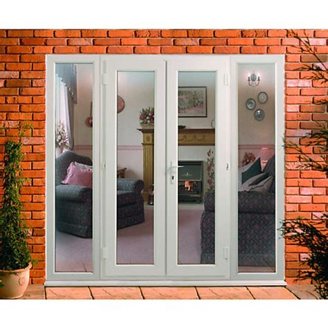 upvc doors outwards opening with 2 side panels