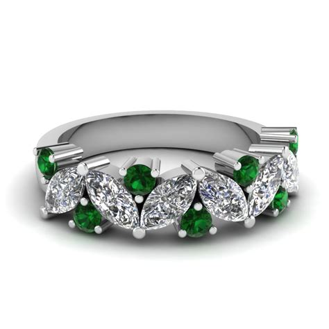 Wedding Bands Emerald by Wedding Bands Wedding Rings For Fascinating Diamonds