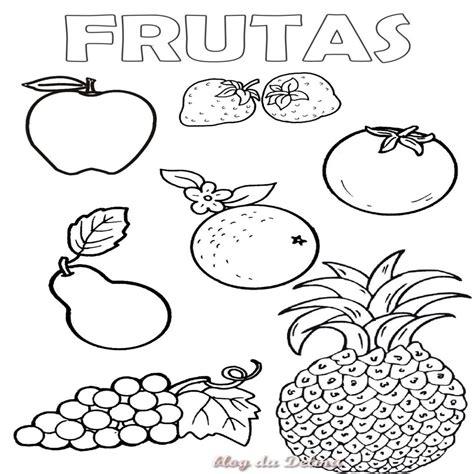 dibujos para colorear de frutas y verduras para imprimir o descargar frutas y verduras para colorear