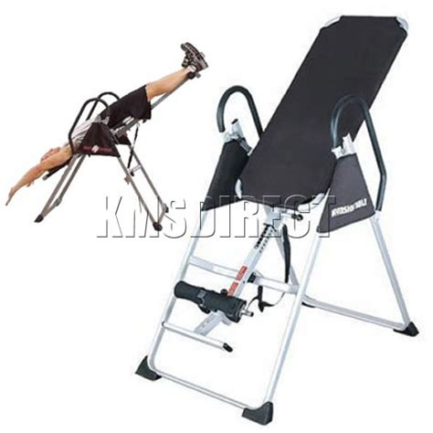 pro back relief inversion table bench hang therapy