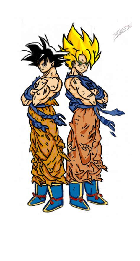 imagenes de goku herido dibujos de goku ssj dios imagui
