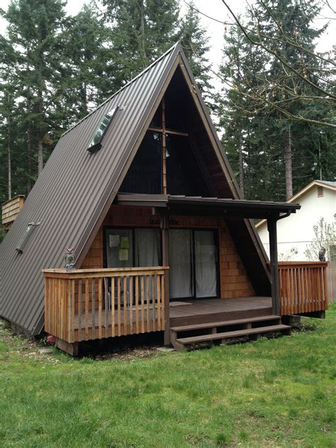 A Frame Roof | metal roofs in the puget sound cabin inspiration
