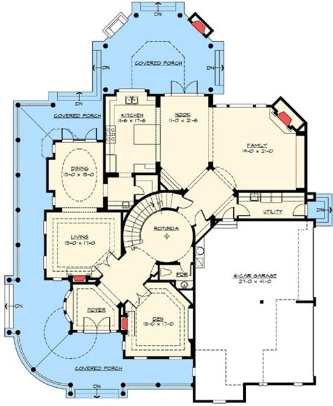 corner house floor plans plan w2384jd corner lot country luxury northwest premium collection photo gallery shingle
