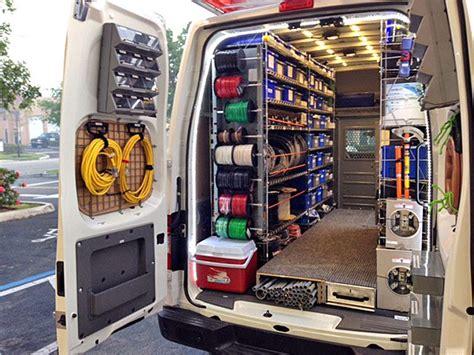 stocking electrical service vans van organization work