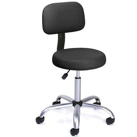 Black Caressoft Stool W Back by Caressoft Stool With Back Cushion Walmart