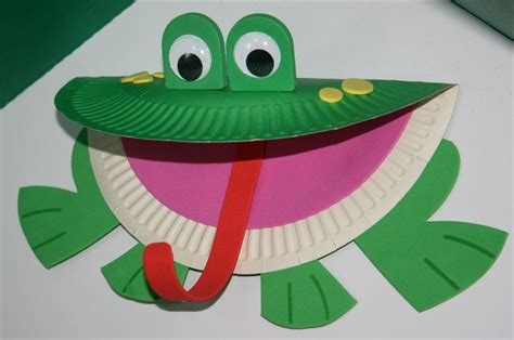 Paper Frog Craft - paper plates crafts find craft ideas