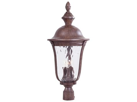 Ardmore Lights by Minka Lavery Ardmore Vintage Rust Three Light Outdoor Post