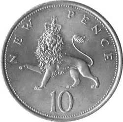 10 nouveaux pence elizabeth ii 2e effigie royaume uni