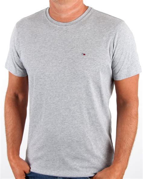 Tshirt Guko Grey hilfiger cotton crew neck t shirt light grey s
