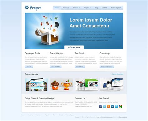free css template templates proper free css web template