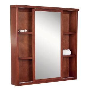cherry medicine cabinet surface mount american imaginations 35 in w x 35 in h surface mount